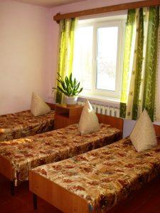 трёхместная комната , спальный корпус