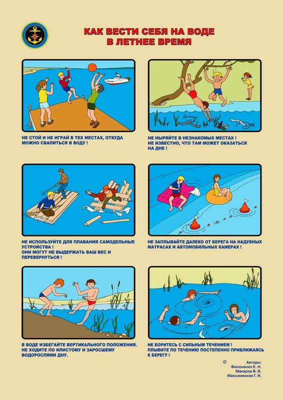 изображение: как вести себя на воде в летнее время